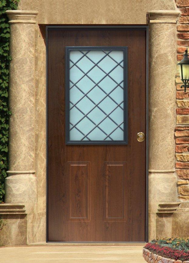 Vano vetro liverpool acciaio pvc dettagli prodotto - Porte di ferro per esterni ...